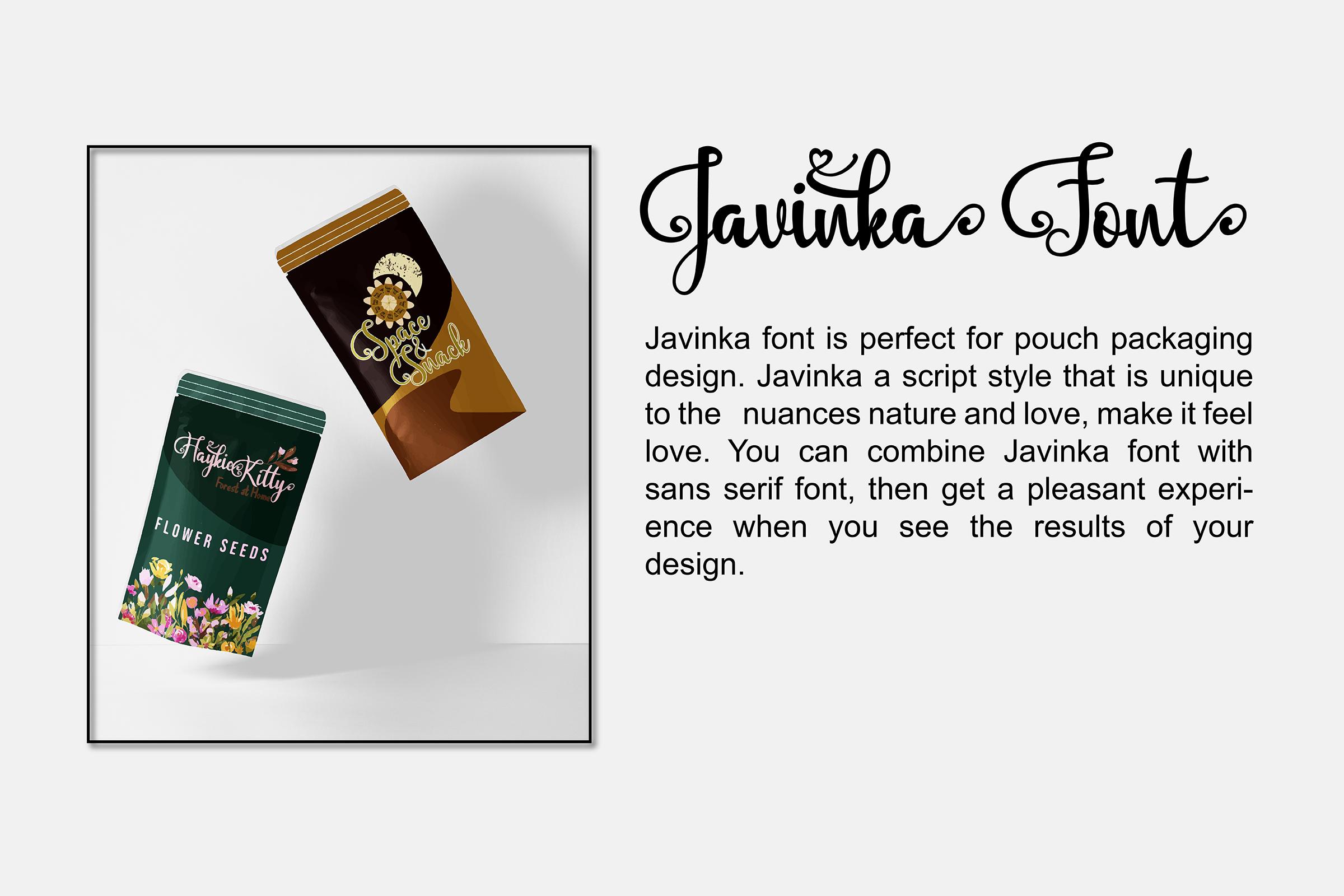 Javinka font example image 6