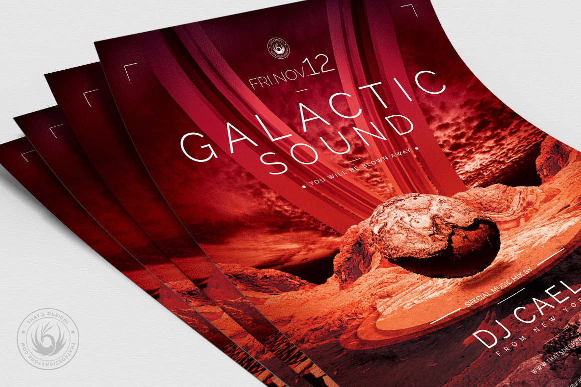 Galactic Sound Flyer Template V3 example image 5