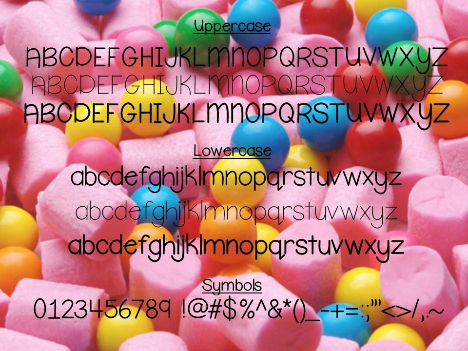 Bubblegum Font Trio example image 2