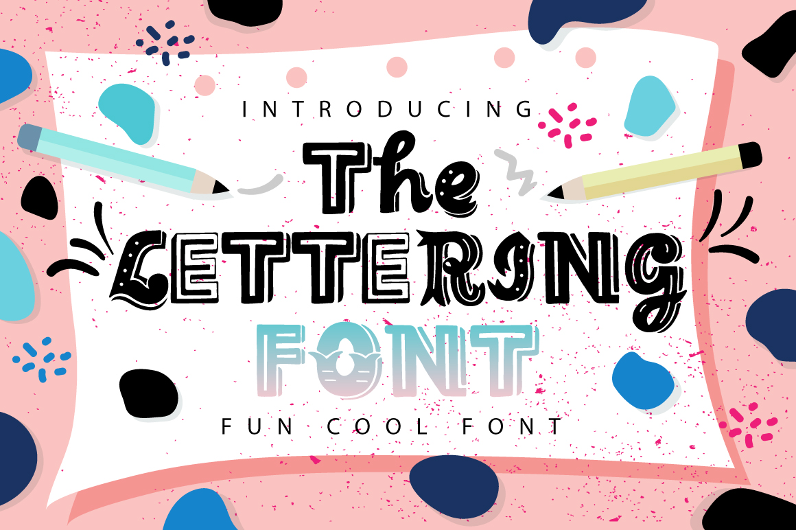 The Lettering Font example image 1