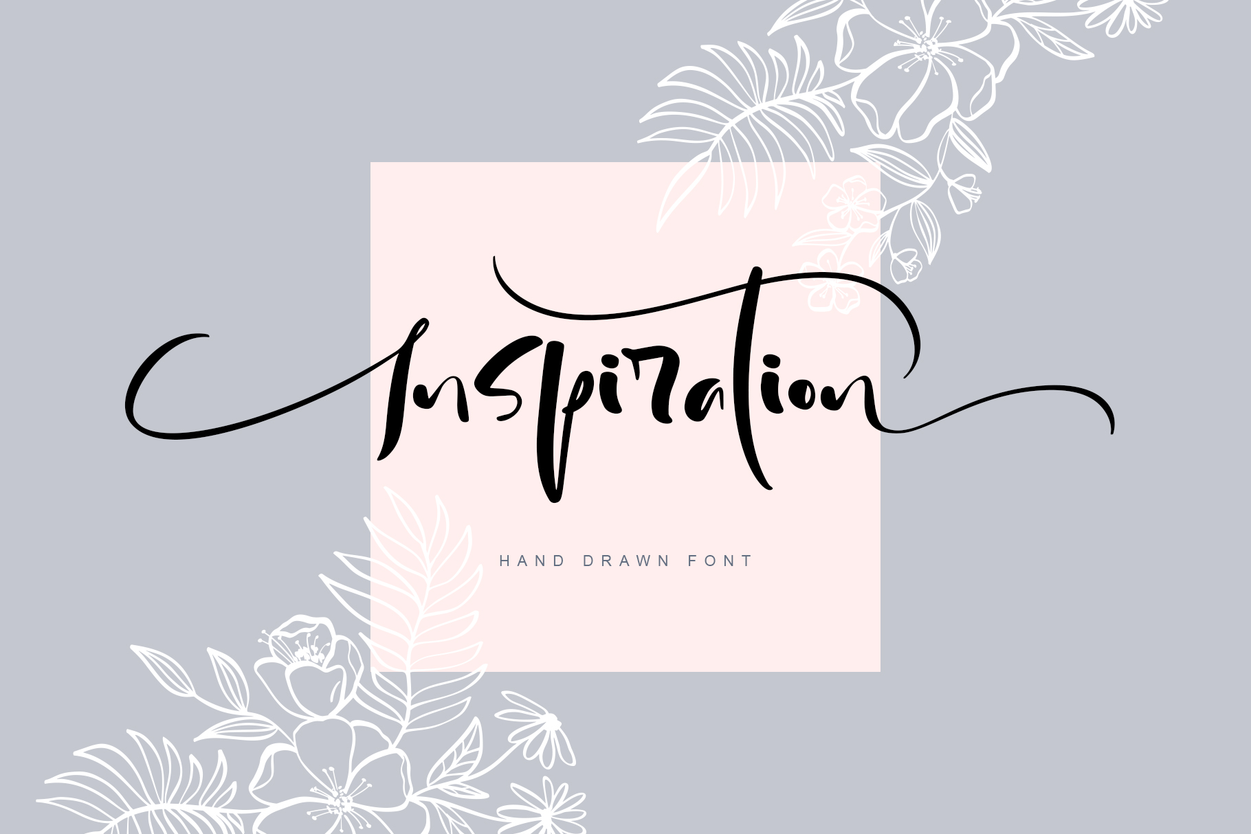 Inspiration Hand Drawn Font example image 1