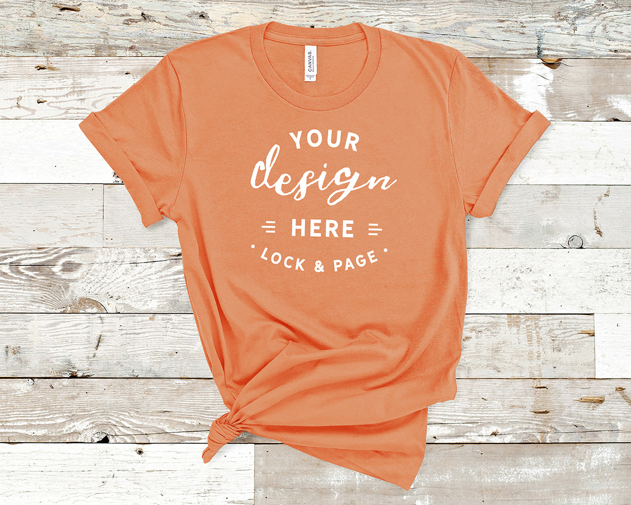 Bella Canvas 3001 Mockup T-Shirt Bundle All Colors On Wood example image 10