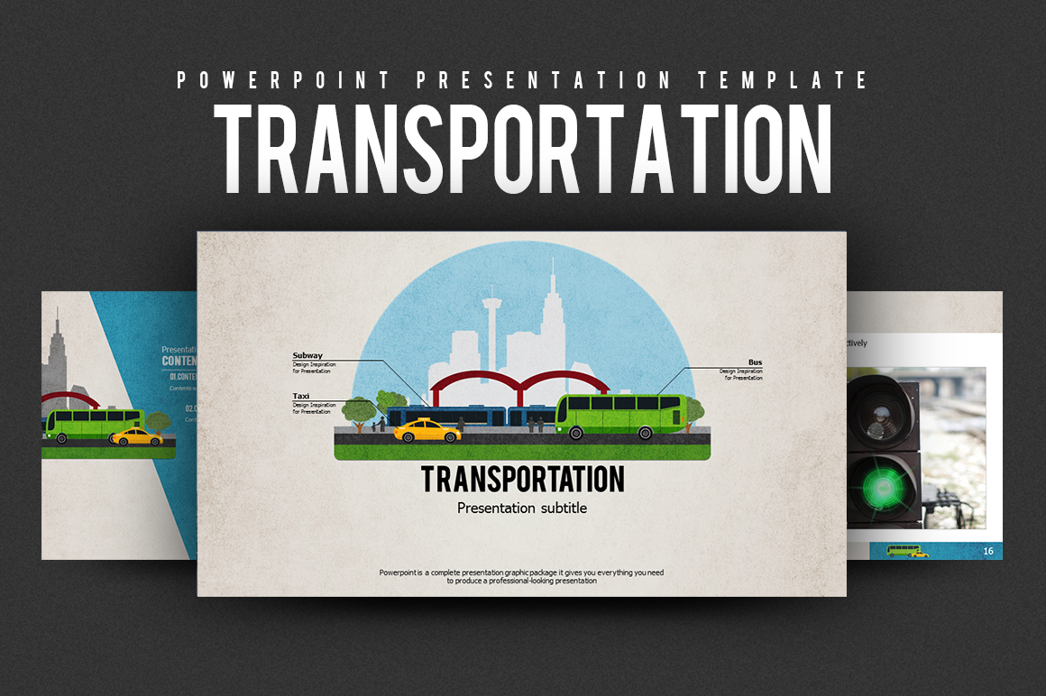 Transportation PPT Template example image 1
