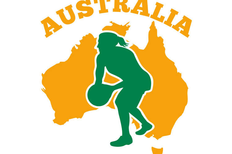 Netball player passing ball Australia example image 1