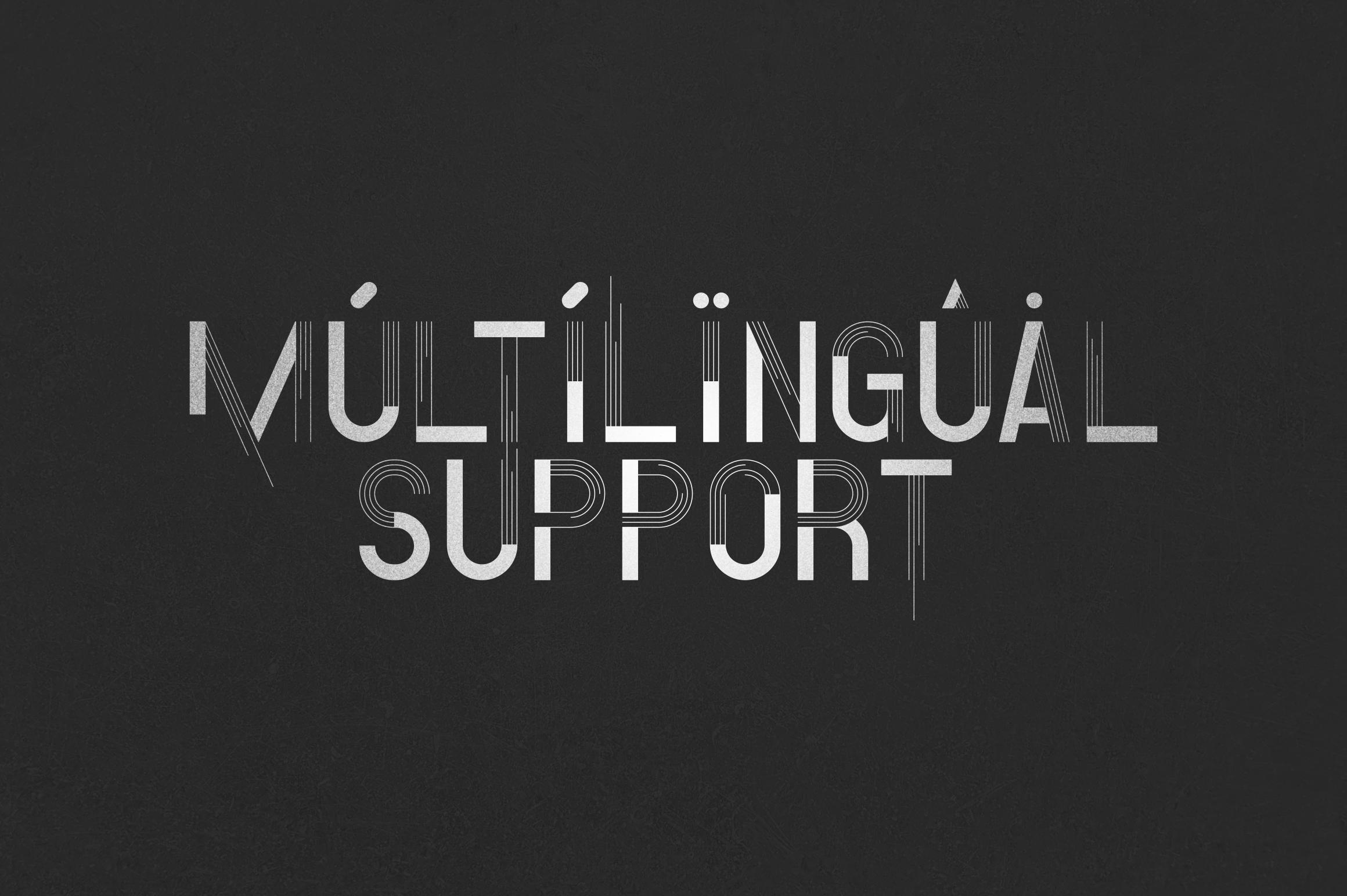 Minbus - Display font example image 8
