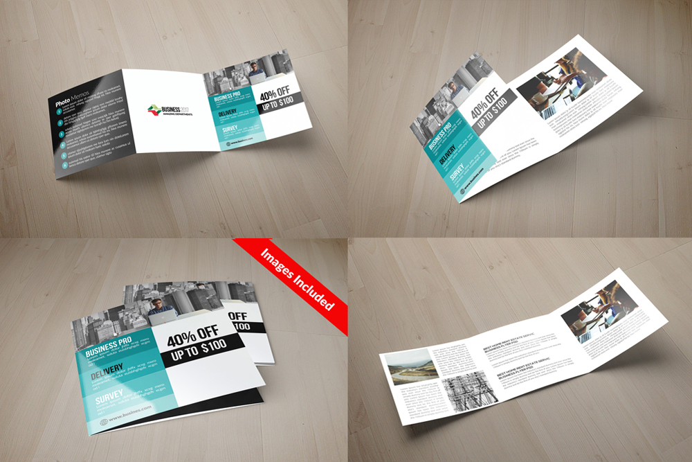 25 Square Trifold Business Brochures Bundle example image 24