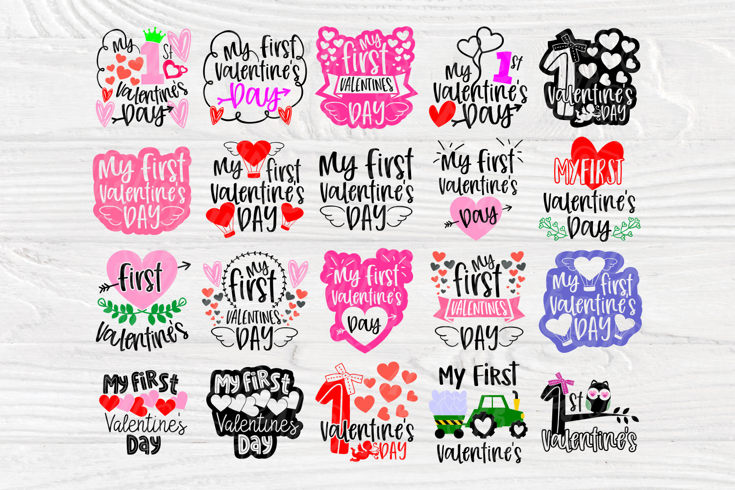 My First Valentine's Day | SVG Bundle | Valentines Quotes example image 2