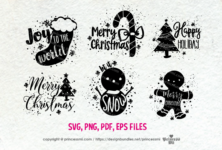 Christmas set / svg, eps, png file example image 1