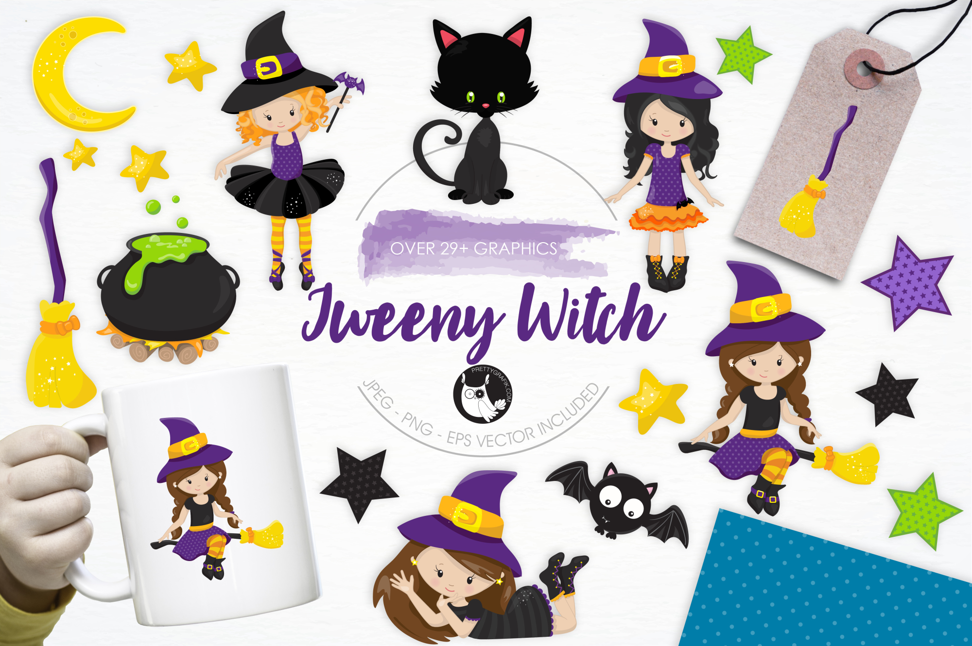 Tweeny Witch graphics and illustrations example image 1