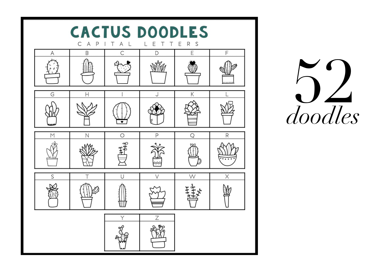 Fancactus - A Cactus & Succulent Doodle Font  example image 2