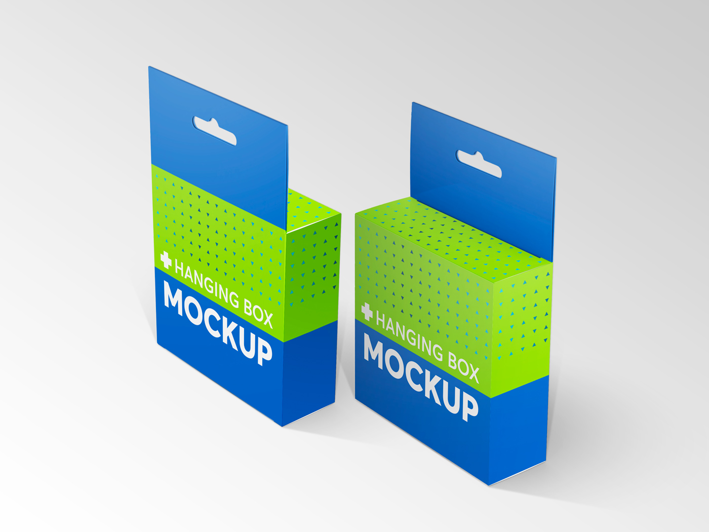 Flat Square Box with Hanger Mockup example image 18