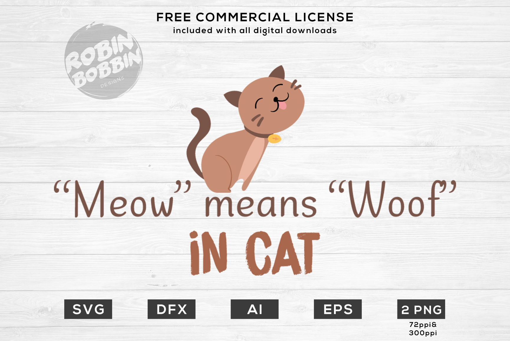 Meow Means Woof Design for T-Shirt, Hoodies, Mugs and more example image 1