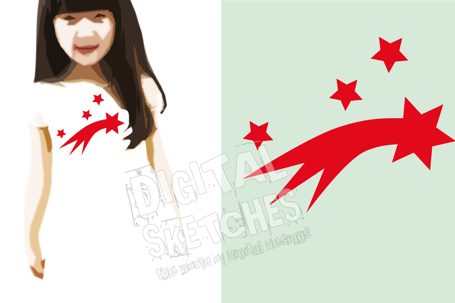 Shooting Star Cut File Vector Graphics Illustration example image 2