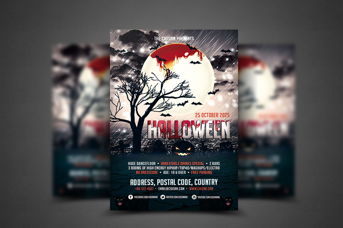 Halloween Flyer Template - Bundle example image 4