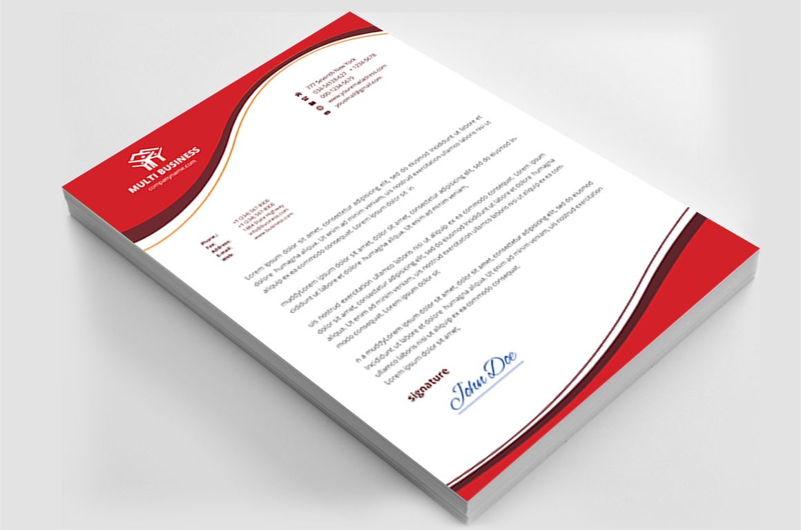 12 Clean Rsume Invoice and Letterhead Bundle example image 7