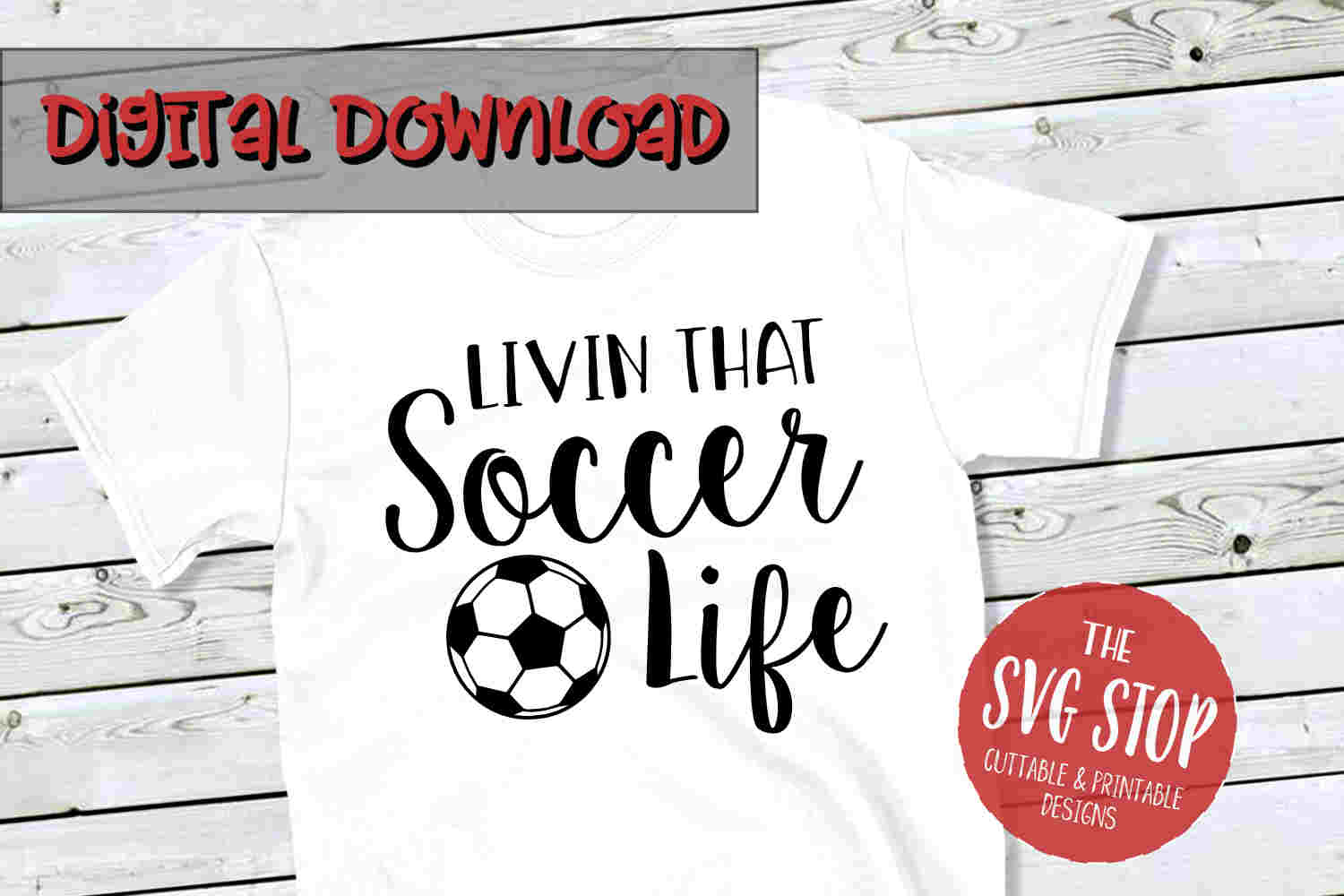 Soccer Life -SVG, PNG, DXF example image 1