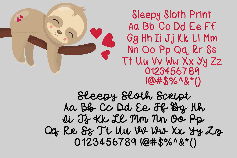 Sleepy Sloth, Handwritten Font Duo example image 3