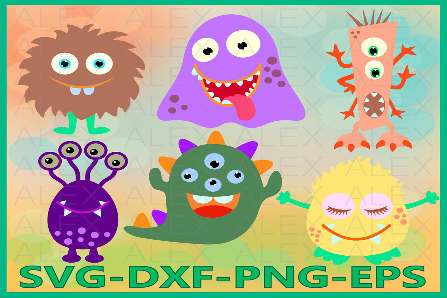 Monster SVG, Monster Clipart, Monster Party, Monster Svg example image 1