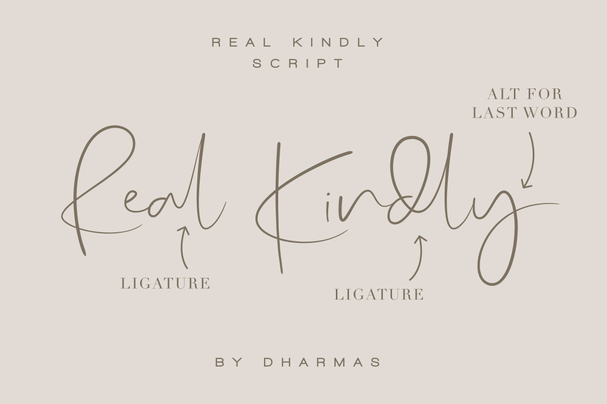 Real Kindly - Elegant Script example image 2