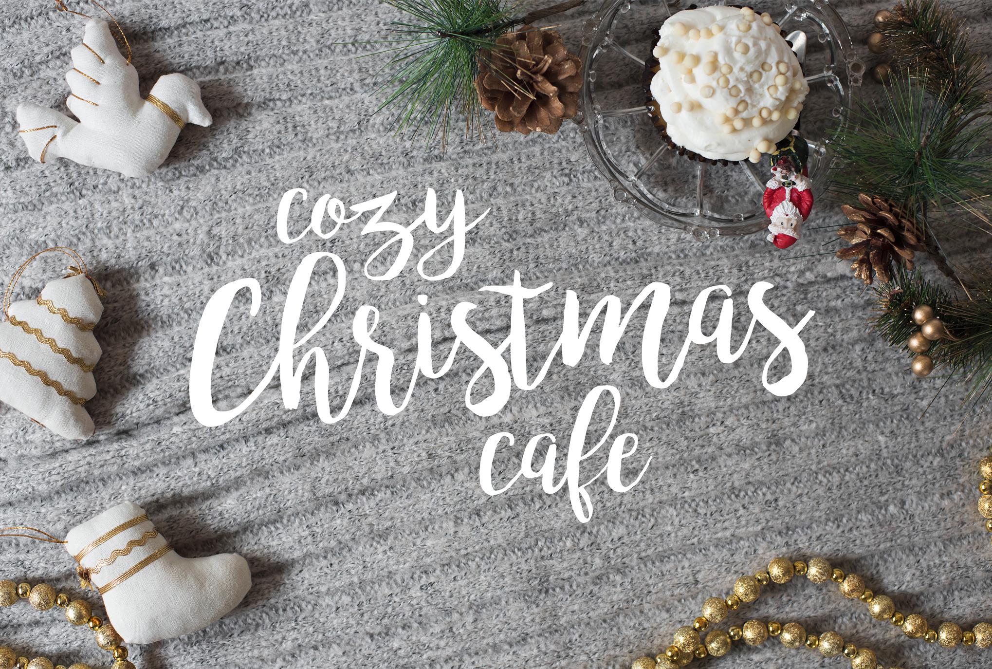 Cozy Cafe Christmas Photo Bundle example image 7