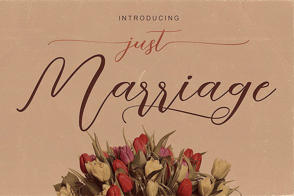 Just Marriage Font Duo example image 3
