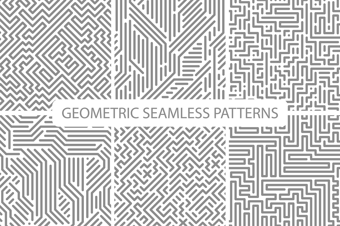 Seamless striped geometric patterns example image 4