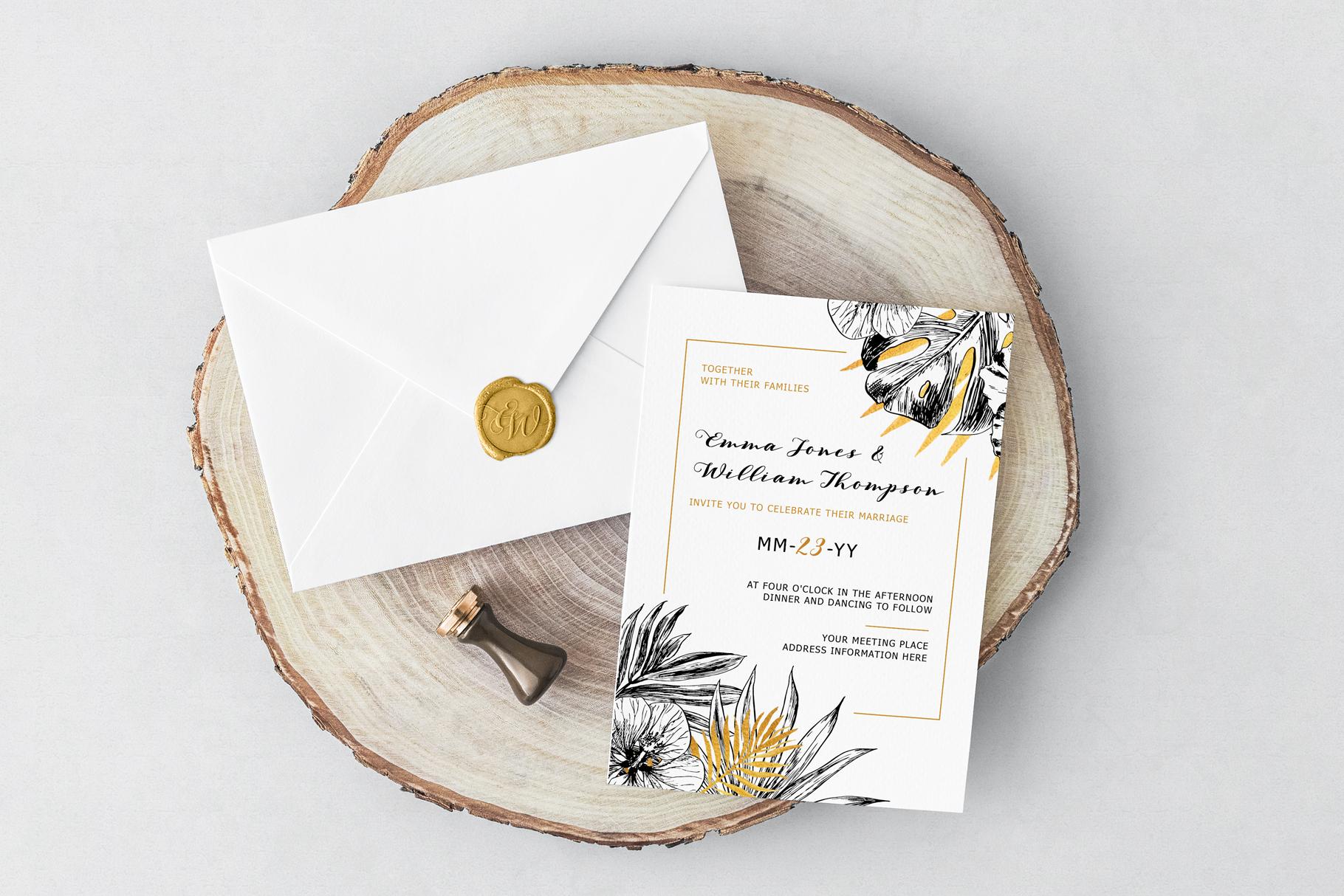 Golden Tropical Wedding example image 2