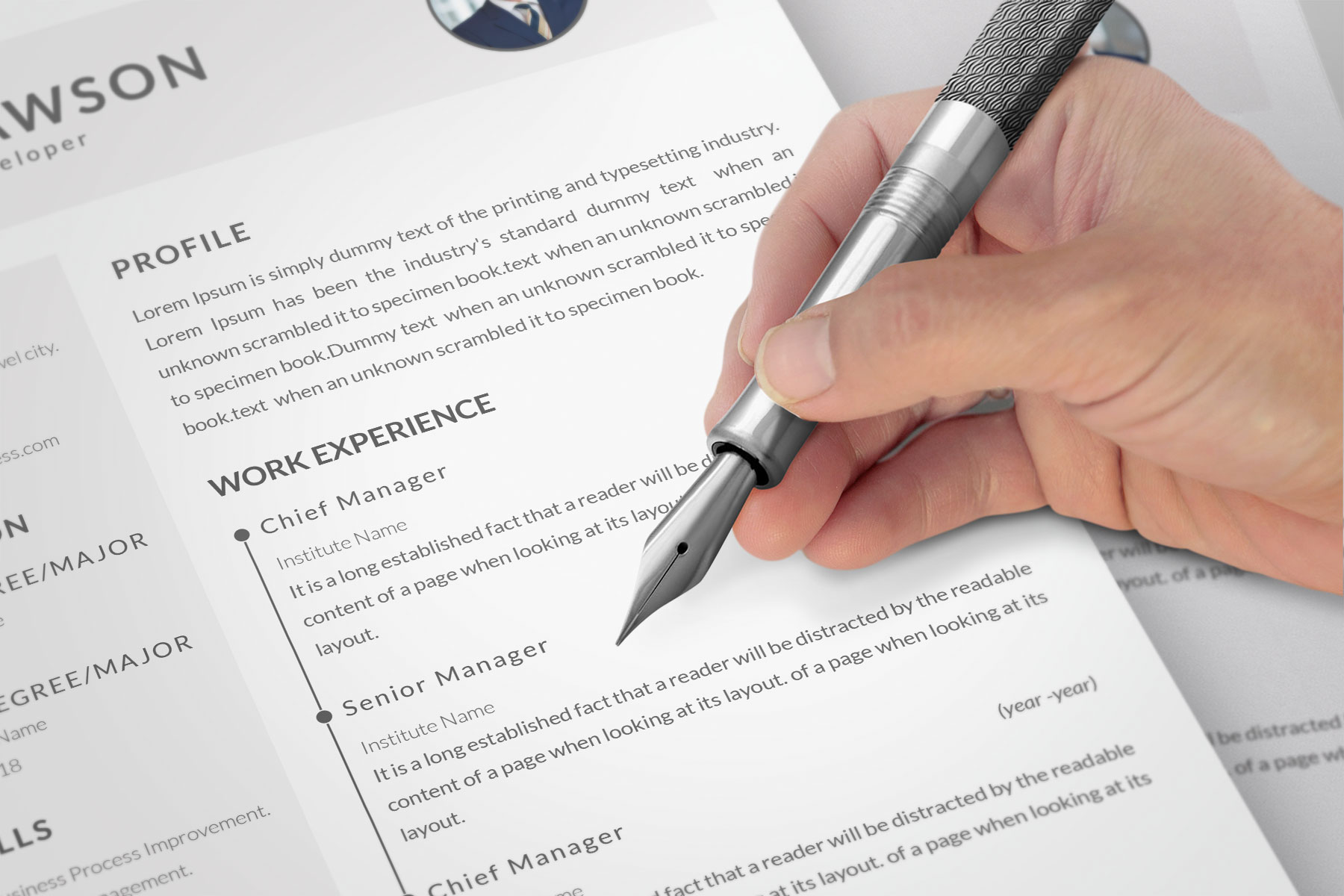 Professional Cv Resume Bonus business card Word/PSD,AI example image 5