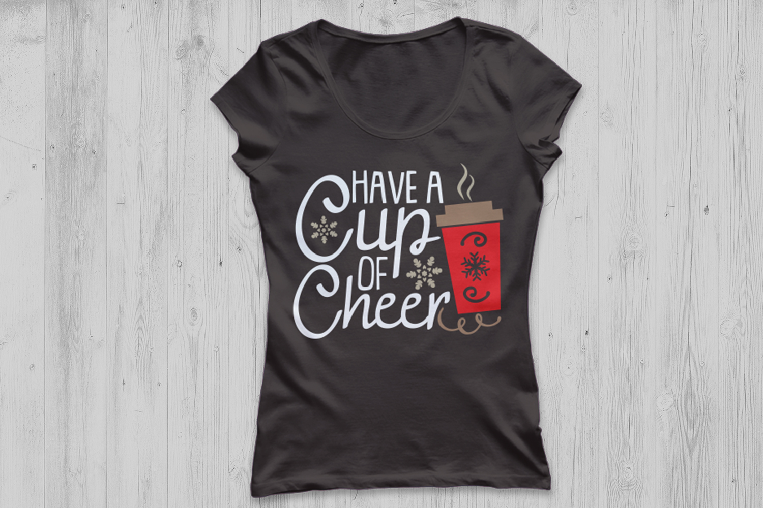 Have A Cup Of Cheer Svg, Christmas Svg, Coffee Svg, Winter. example image 3