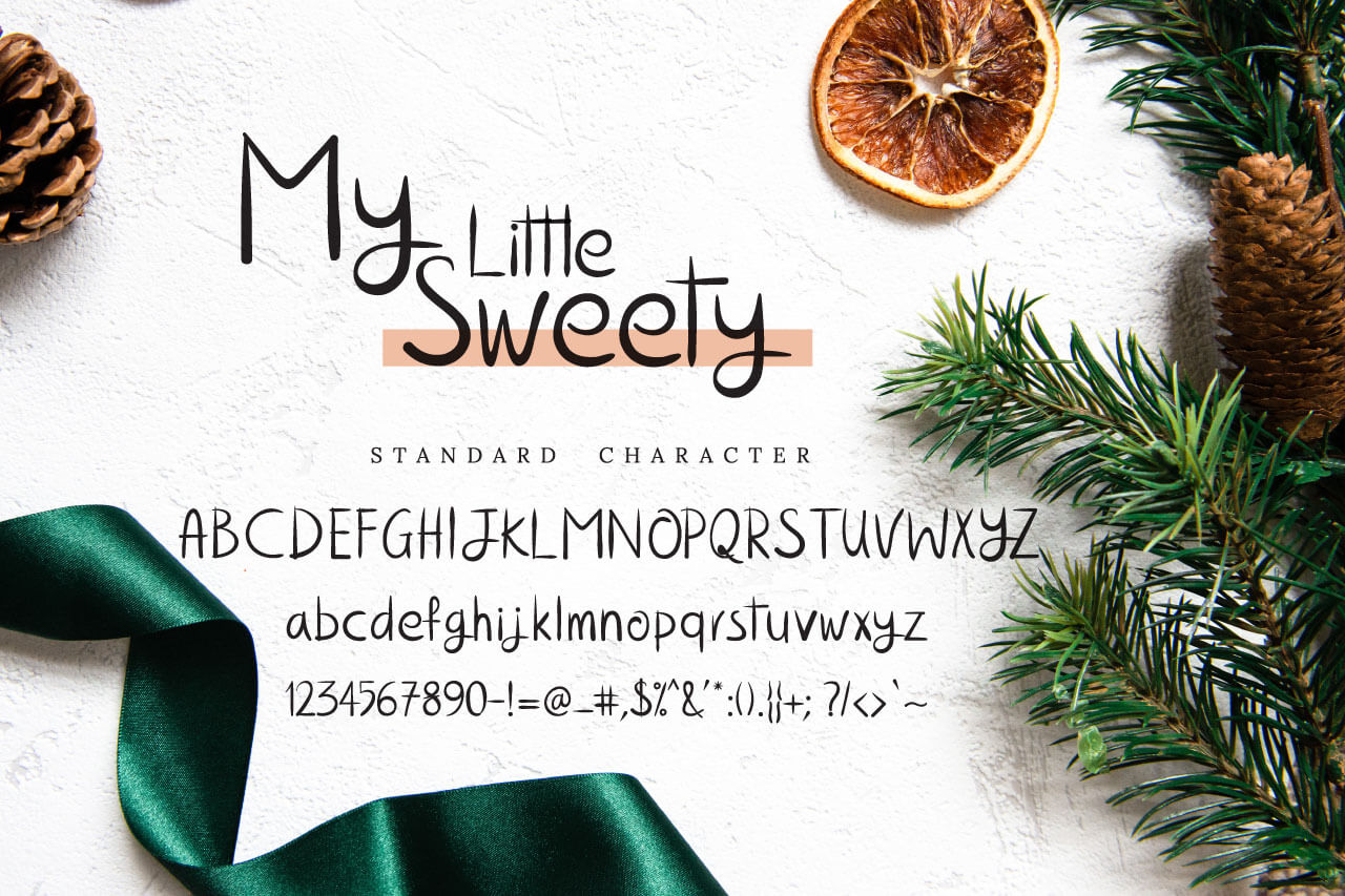 The My Little Sweety Font example image 7