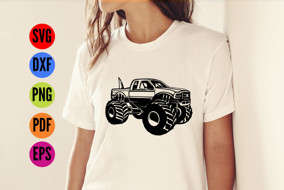 Big Foot Monster Truck  SVG Cutting File  example image 2
