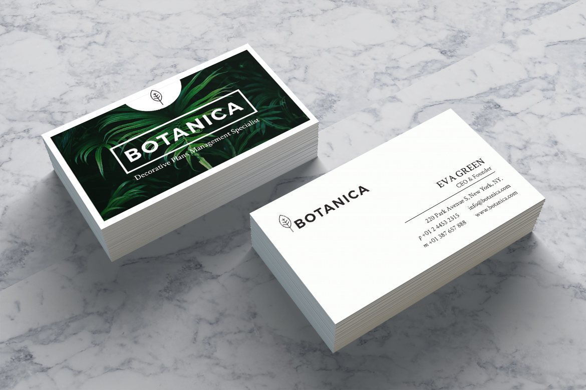 BOTANICA Business Card Template example image 2