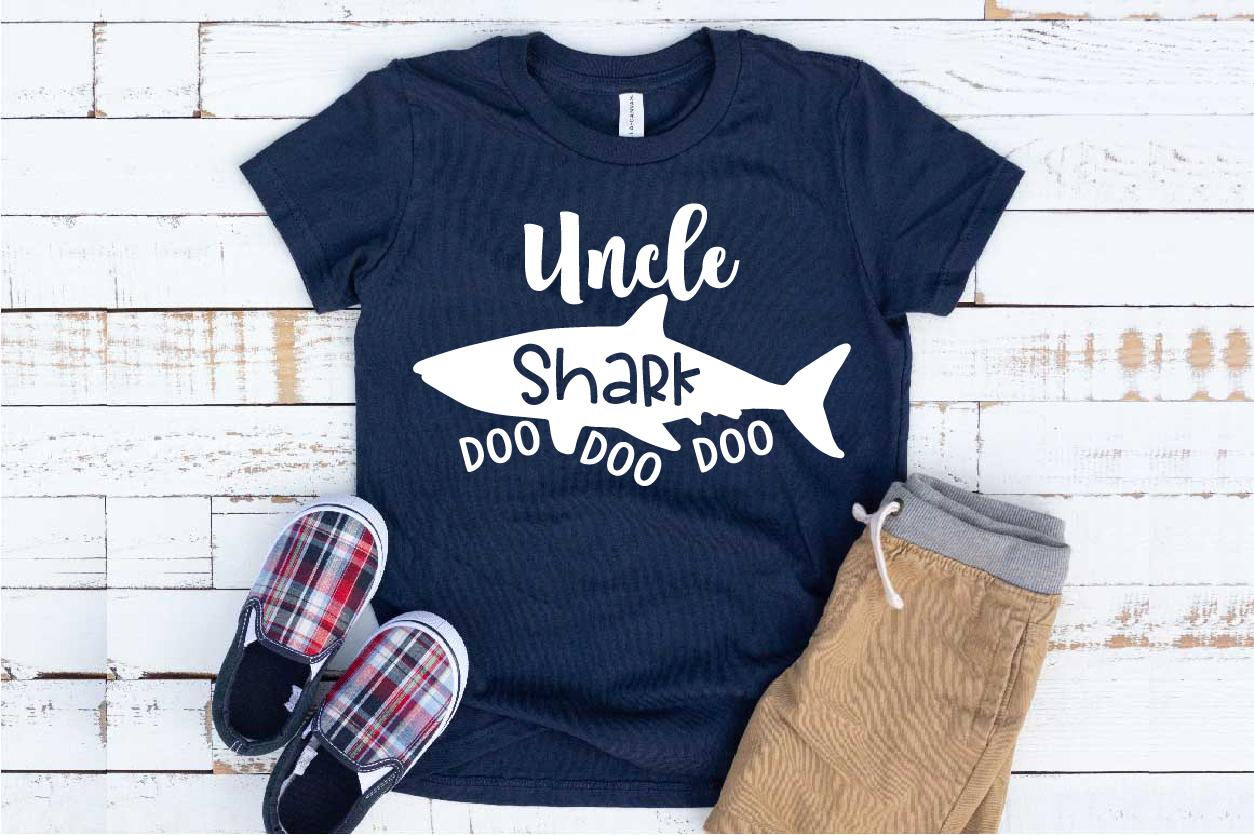 Uncle Shark SVG Doo Doo Doo Family Birthday Sea World 1310S example image 1