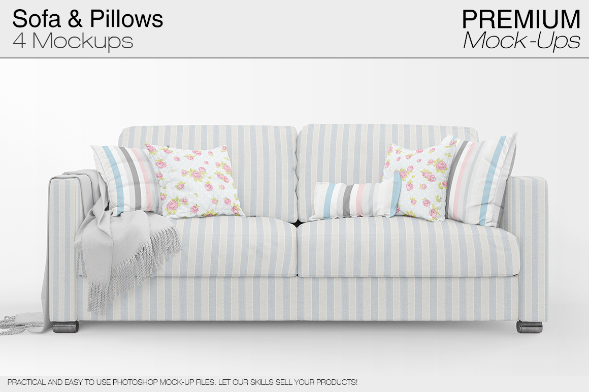 Sofa & Pillows Pack example image 1