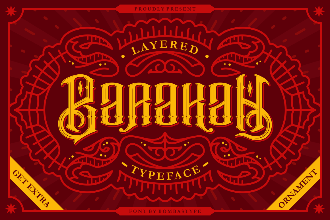 Barakah Typeface  Extras example image 1
