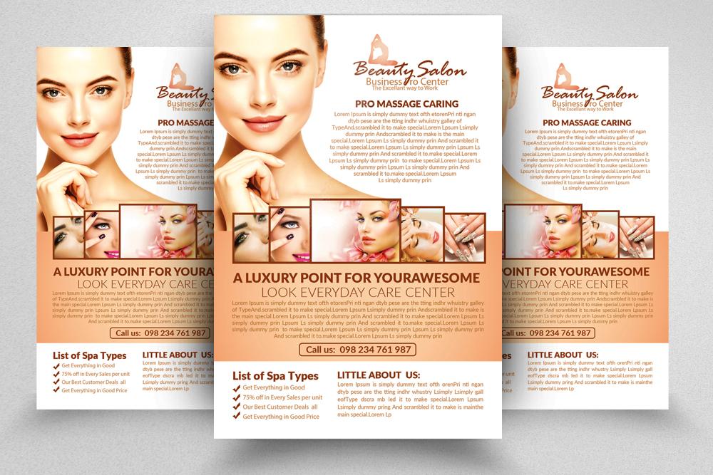Beauty Salon Psd Flyer Template Example Image 1