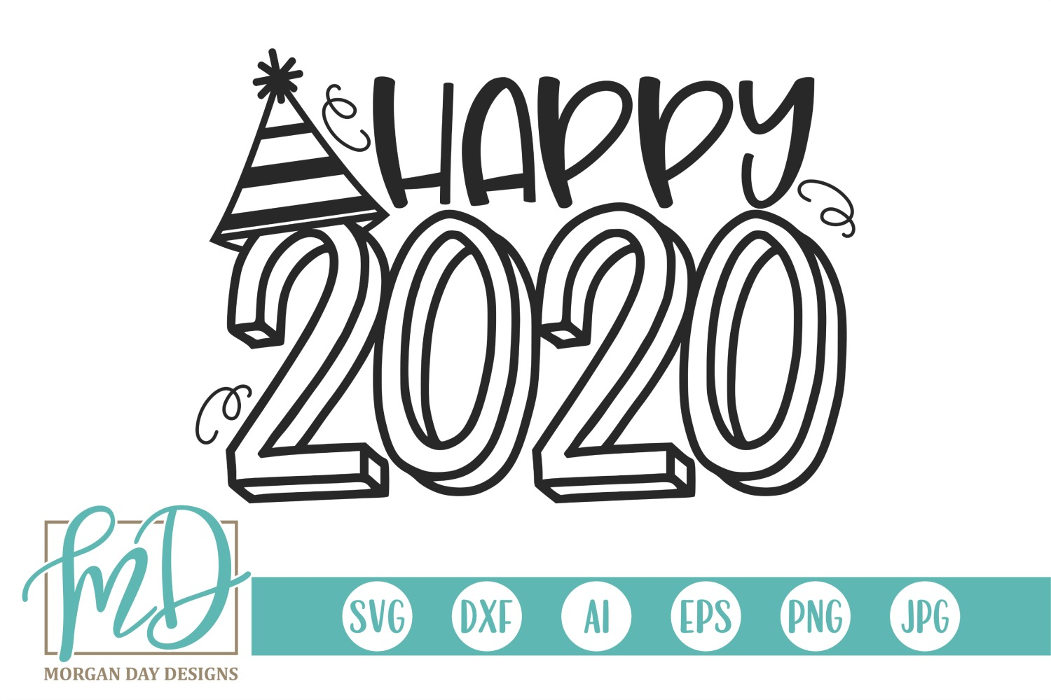 New Years - Happy 2020 SVG example image 1