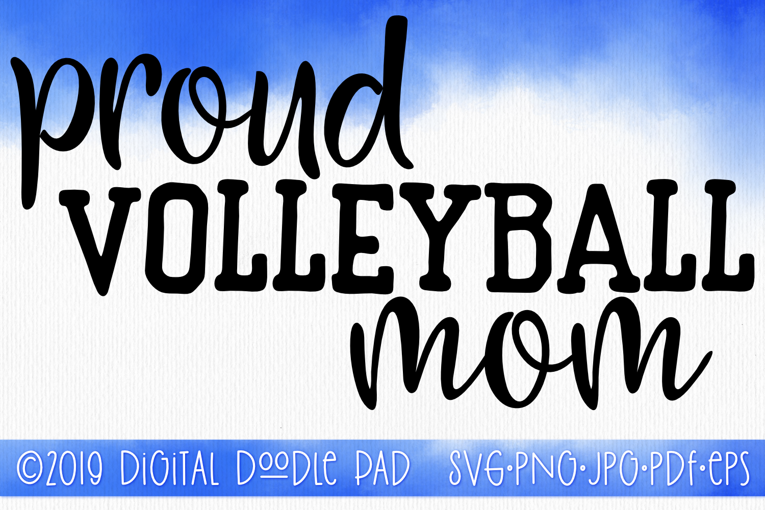 Volleyball Mom SVG, Sports SVG example image 1