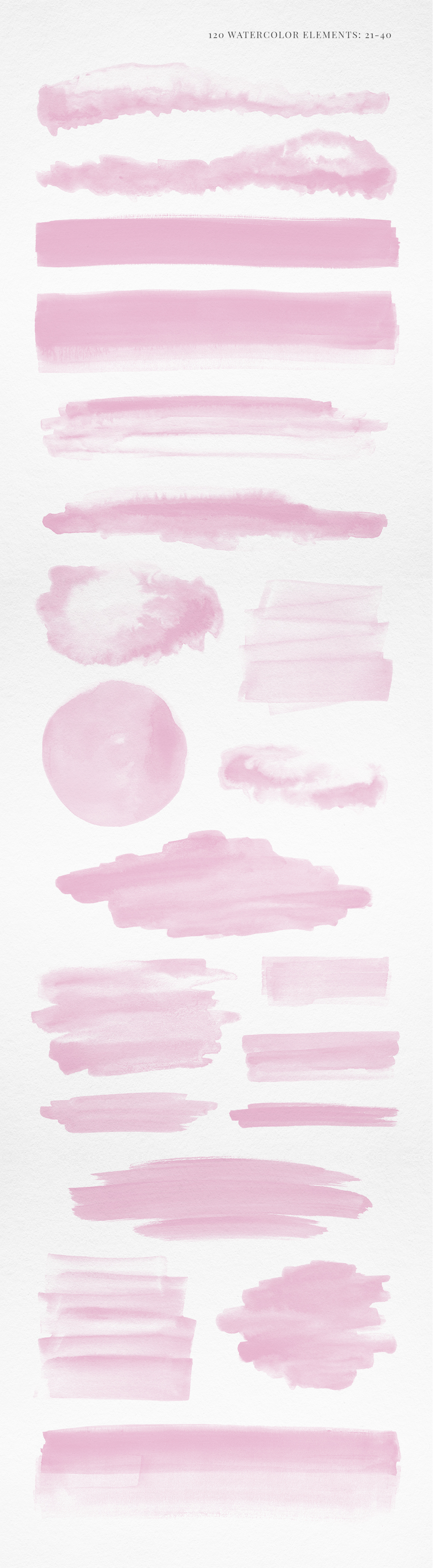 120 Pink Watercolor Texture Elements example image 3