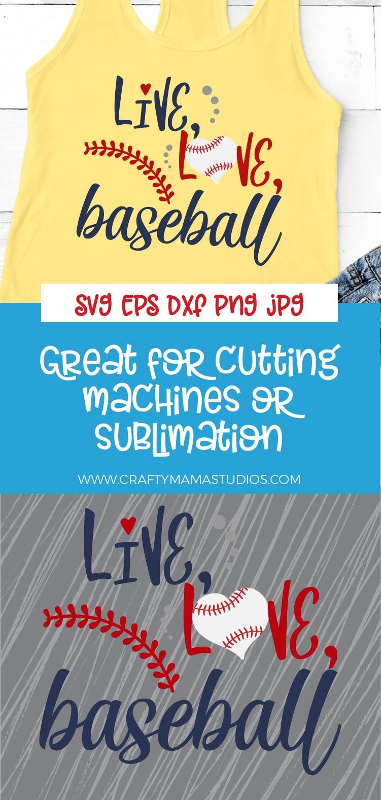Baseball SVG, Live Love Baseball SVG, Baseball Is Life SVG example image 3
