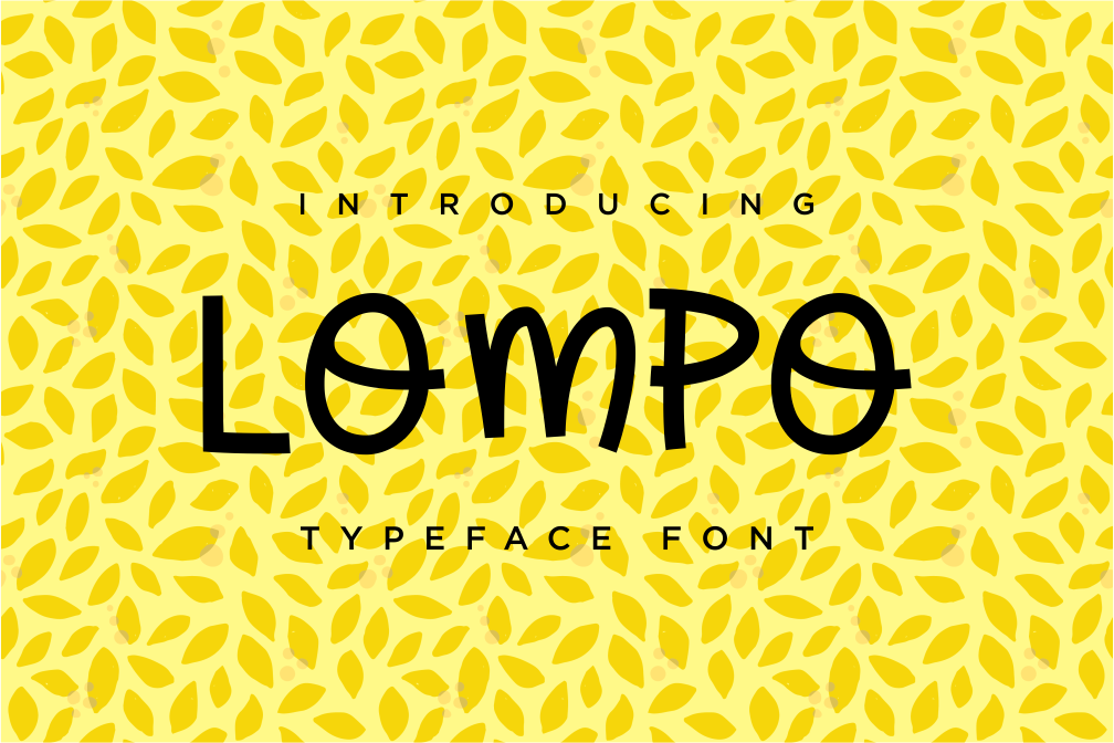 LOMPO Font example image 1