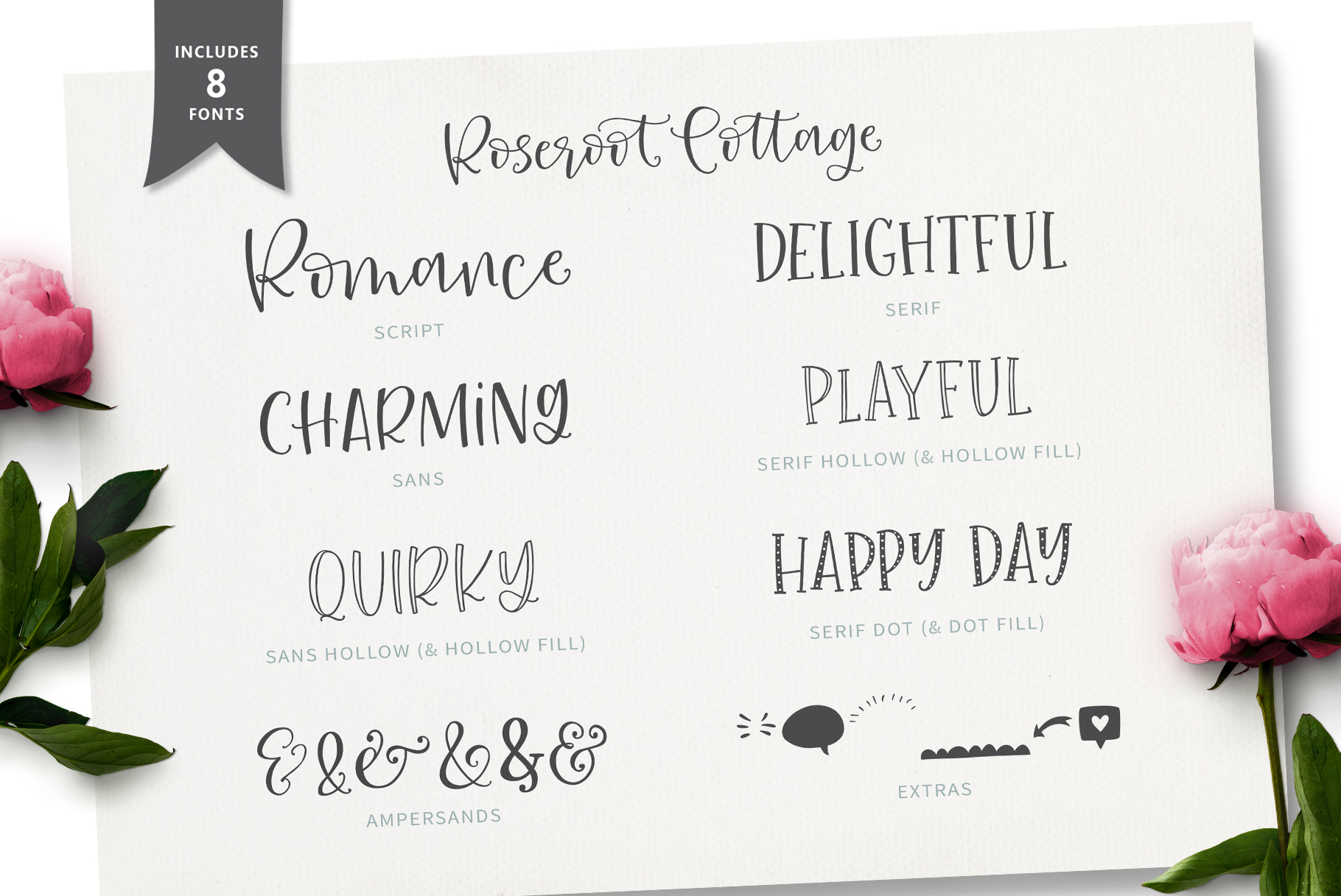 Roseroot Cottage Font Collection example image 5