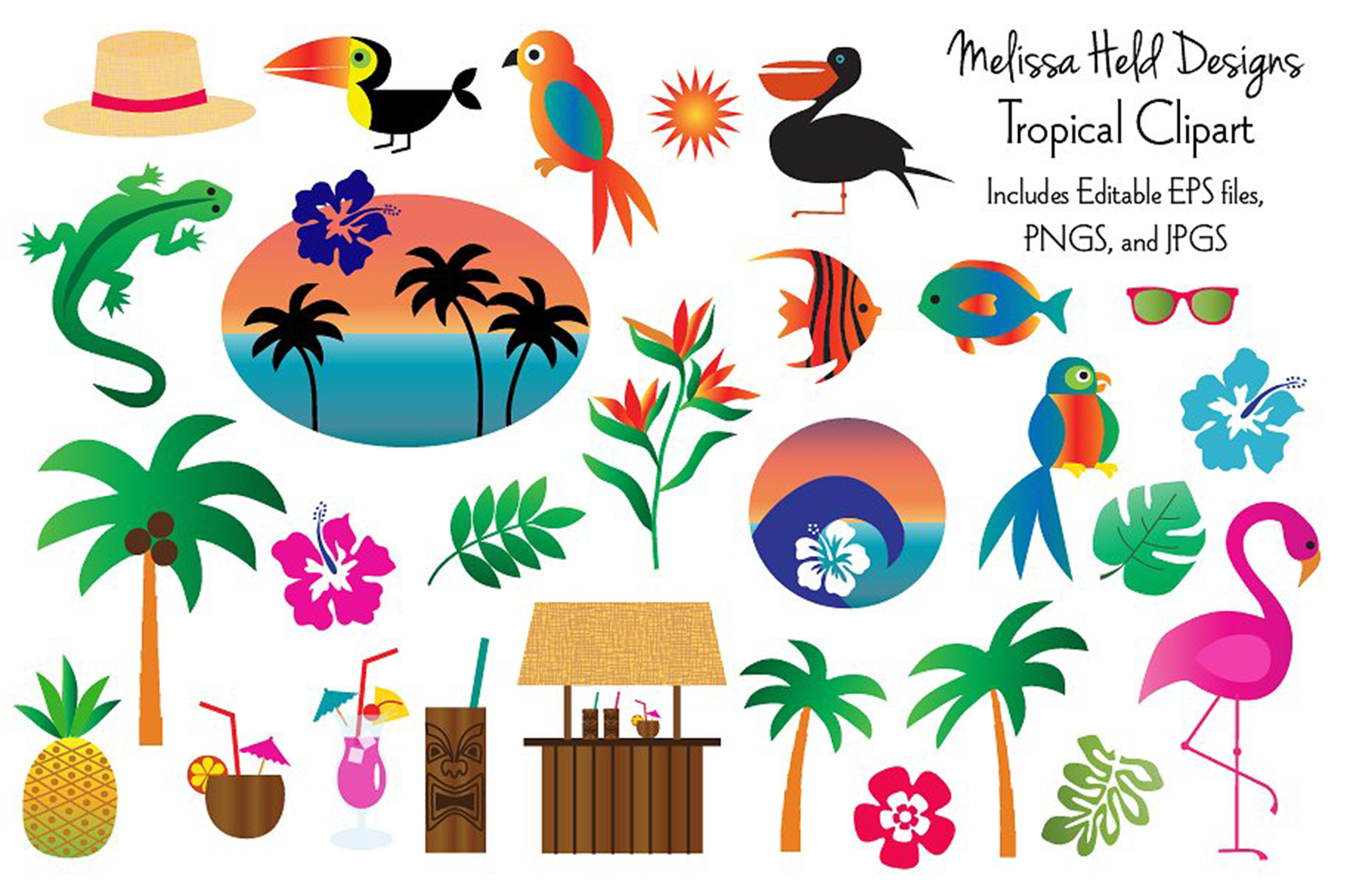 Tropical Clipart example image 1