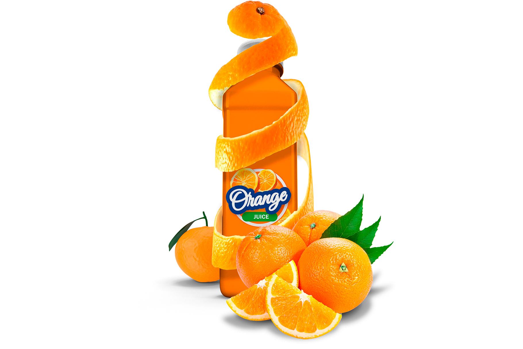 Bottle Juice Mockup Advertising example image 3