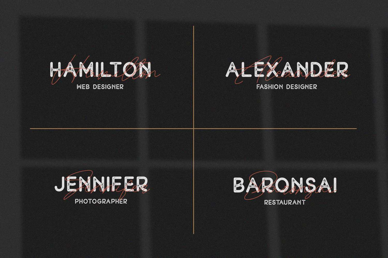 Peron - Modern Vintage | 4 Fonts example image 4