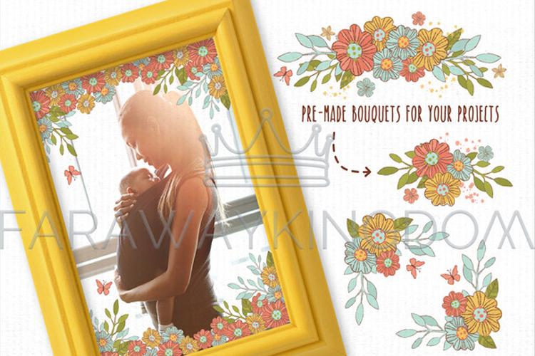 SPRING GARDEN Woman Season Work Vector Illustration Set example image 6