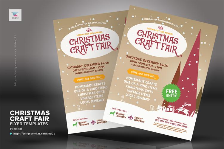 Christmas Craft Fair Flyer Templates example image 3
