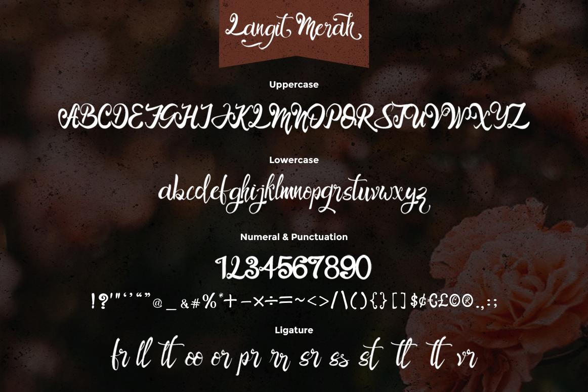 Langit Merah Font with Bonus 6 Dark Texture Backgrounds example image 7