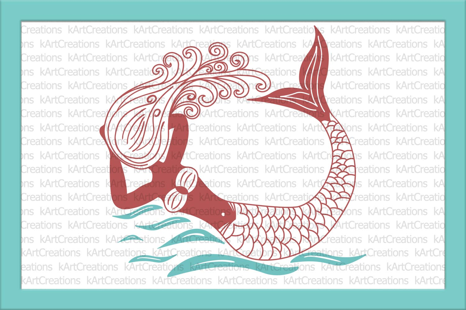 Unicorn Mermaid bundle svg dxf files clipart printable png example image 3