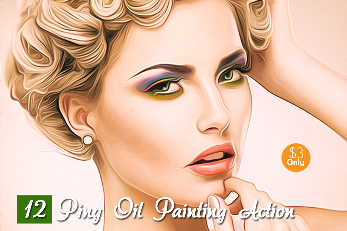 12 Ping Oil Painting Action example image 1